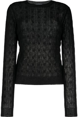 Prada Semi-Sheer Knitted Jumper