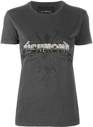 John Richmond beaded logo T-shirt