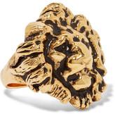 Saint Laurent Burnished Gold-tone Ring