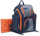 J is for Jeep® Perfect Pockets Back Pack Diaper Bag in Navy