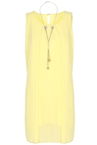 Quiz Lemon Chiffon Necklace Tunic Dress