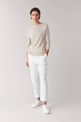 Cos RELAXED COTTON-LINEN TROUSERS