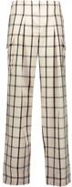 Maison Margiela Checked wool wide-leg pants