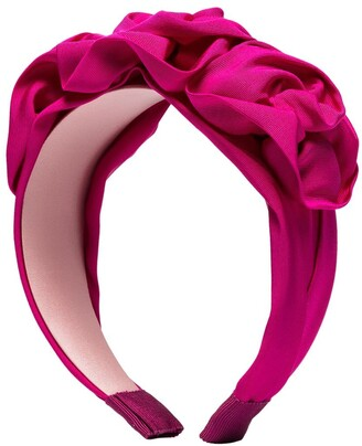 Jennifer Behr Rosette silk headband
