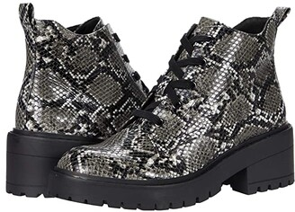 Skechers Teen Spirit - Snake Print Bootie (Gray/Black) Women's Boots