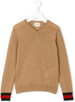 Gucci Kids - v-neck jumper - kids - Wool - 4 yrs