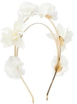 Rosantica Sentiero Faux-pearl And Flower Headband - White