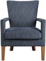Uttermost Wallis Polyester and Cotton Soft Arm Chair in Charcoal