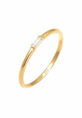 Elli PREMIUM Women Yellow Gold Engagement Plain Band Ring - 0608152117_58