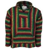 Earth Ragz Baja Joe - Premium Stripe Woven Baja Hoodie Sweatshirt Jerga Mens