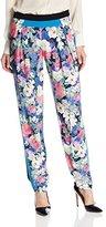 Rebecca Minkoff Women's Drift Floral Printed Crepe Pant