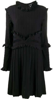 Chanel Pre Owned 2010s Ruffle Trimmed Pleated Dress
