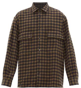 Raey Oversized Checked Wool Shirt - Navy Multi