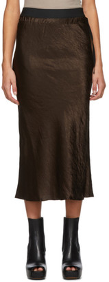 Ann Demeulemeester Brown Duchesse Mid-Length Skirt