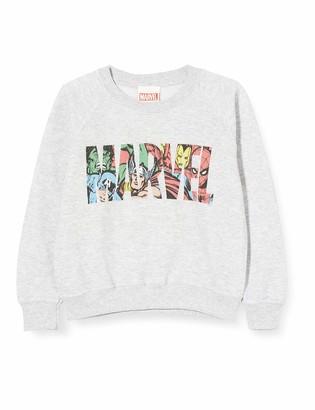 Marvel Boy's Logo Character Infill Sweatshirt