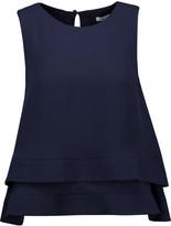 Rebecca Minkoff Marie open-back layered ruffled silk blouse