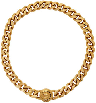 Versace Gold Medusa Tribute Chain Necklace