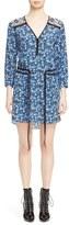 Veronica Beard Women's Venice V-Neck Tie Waist Silk Dress
