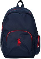 Ralph Lauren Logo Embroidered Cotton Canvas Backpack