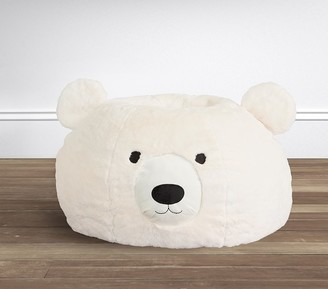Pottery Barn Kids Ivory Polar Bear Faux Fur Anywhere Beanbag
