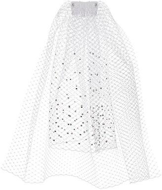 Gigi Burris Millinery Crystal-Embellished Veil Hair Clip
