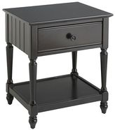 Pier 1 Imports Cottage Rubbed Black Nightstand