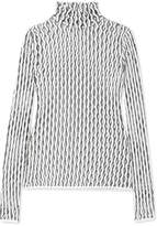 Beaufille Nerva Open-knit Turtleneck Top