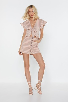 Nasty Gal Womens All Stripes Of Rad Button Shorts - Pink - S, Pink