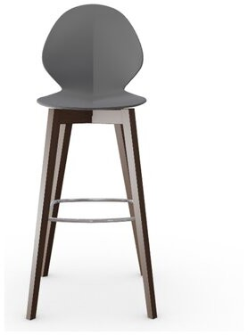 "Calligaris Basil 31.75"" Bar Stool Upholstery: Gray"
