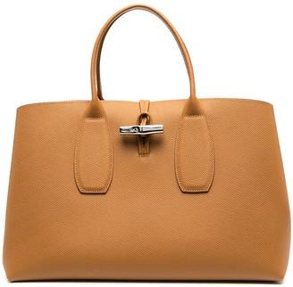 Longchamp large Roseau top handle bag