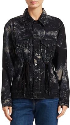 Proenza Schouler Drawstring-Waist Denim Jacket