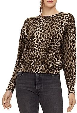 Michael Stars Gigi Leopard Print Sweatshirt