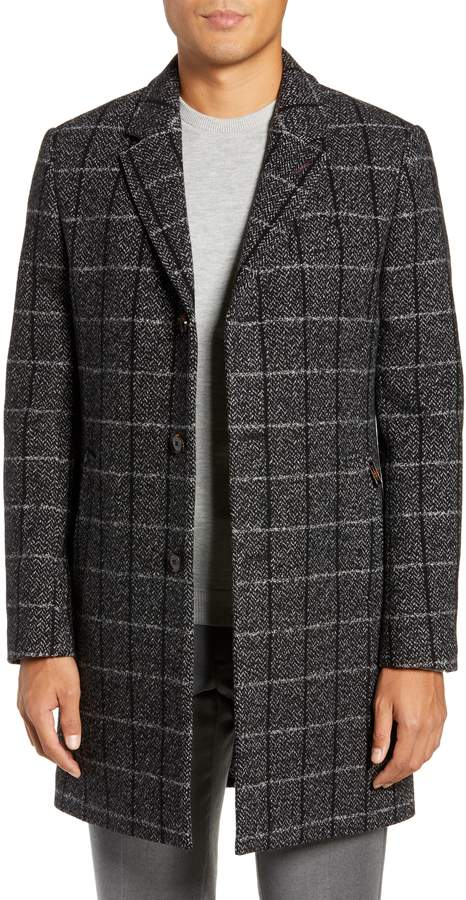 Ted Baker Ando Slim Checked Overcoat