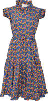 La DoubleJ Short and Sassy Belted Ruffled Cotton Dress