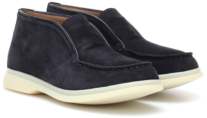 Loro Piana Kids Open Walk suede ankle boots