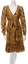 Prada Patterned V-Neck Dress w/ Tags