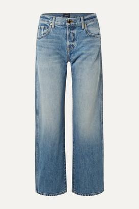 KHAITE Kerrie Mid-rise Straight-leg Jeans - Mid denim