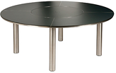 Barlow Tyrie Equinox Round 8 Seater Outdoor Dining Table with Lazy Susan, Slate Grey