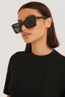 NA-KD Sharp Trapeze Frame Sunglasses