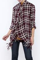 Willow & Clay Plaid Fringe Shirt