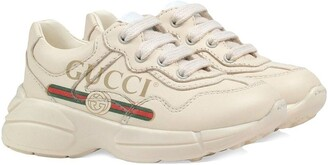 Gucci Kids toddler logo leather sneakers