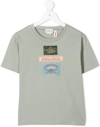 Gucci Kids logo patch detail T-shirt
