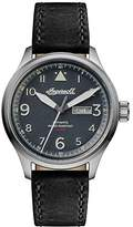Ingersoll Men's The Bateman Quartz Watch with Black Dial and Black Leather Strap I01802