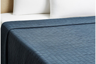 Belle Epoque Relaxed Rows Coverlet - Navy Twin