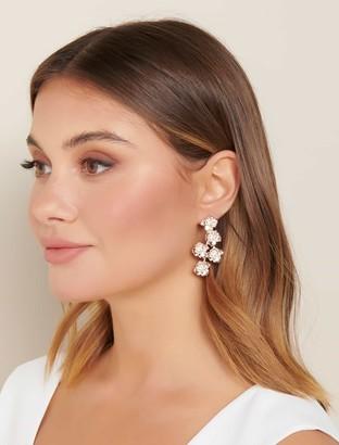 Forever New Kinsley Flower Drop Earrings - Rose Gold - 00