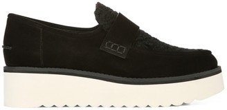 Vince Zola Platform Faux Shearling-Trimmed Suede Loafers