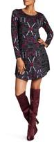 Desigual Multi Color Long Sleeve Bodycon Dress