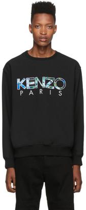 Kenzo Black Woven Cady Logo Sweater
