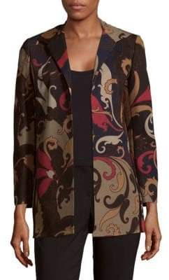 Lafayette 148 New York Luciana Multicolored Printed Blazer