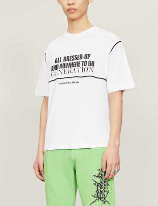 Youths In Balaclava All Dressed Up printed cotton-jersey T-shirt